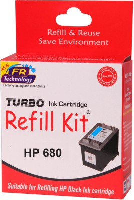 Turbo Ink refill Kit for HP 680 Black cartridge Black Ink