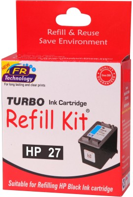 Turbo Ink Refill Kit for HP 27 cartridge Black Ink