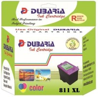 Dubaria 811 XL TriColor Ink Cartridge Compatible For Canon CL 811 TriColor - Cyan, Magenta and Yellow For Canon iP 2770 / MP 237 / 245 / 258 / 276 / 2
