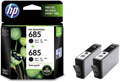 HP 685 Twin Pack Black Ink