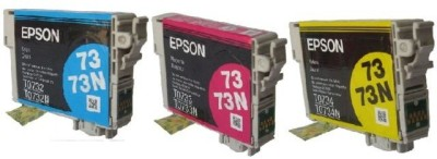 Epson 73N Combo Cartridge Valuable Pack of 3 Colors Tri Color Ink