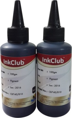 Inkclub Compatible Canon Black ink for Canon 810 & Canon 740 cartridges(set of 2 100ml bottles) Black Ink