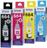 Epson L100/L110/L200/L210/L300/L350/L355/L550 Multi Color Ink(Black, Magenta, Cyan, Yellow)