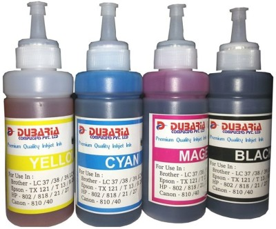 Dubaria Epson Premium Quality Inkjet 100 ml x 4 Colours (Dye Ink) Multicolor Ink