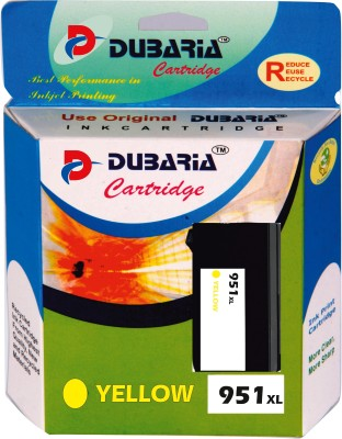 Dubaria 951xl / Cn048zz Cartridge - Hp Compatible For Use In Use In Officejet Pro 276dw ,8600 E, 8600 Plus ,8610,8620 ,251dw, 8100 , 8630 Yellow Ink