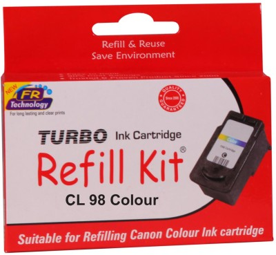 Turbo ink refill kit for Canon CL 98 cartridge Multicolor Ink