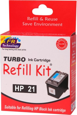 Turbo Ink Refill Kit for HP 21 cartridge Black Ink