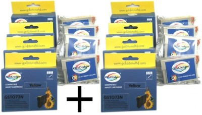 GoColor Compatible Cartridges 73N x 2 Pack for All Epson Printer TX210/T13/TX121 Other Printer etc ( One Time Use ) Cyan Ink