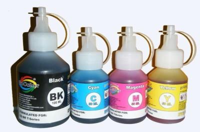 GoColor Premium Quality Brother T Series Inkjet Special Refilling Ink ( Black Pigment & B/C/Y Dye Ink ) Multicolor Ink