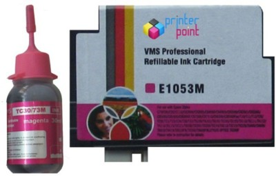 Max 73N For Epson Refillable Prefilled 10ML Cartridge & with 30ML Magenta Ink