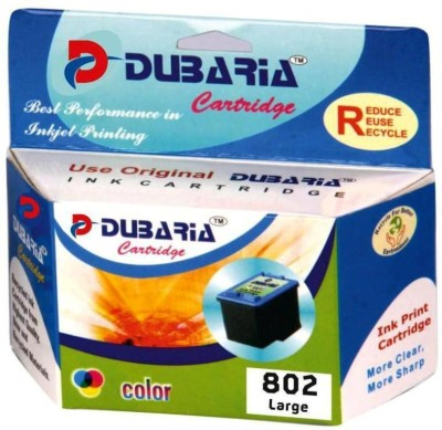 Dubaria Compatible For Hp 802 Xl Tricolor / Ch563zz Multicolor Ink