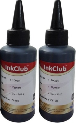 Inkclub Compatible Canon Black Pigmented Ink - Set Of 2 100 Ml Bottle Black Ink
