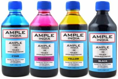 Ample India 200ML Compatible for Epson L100,L110,L200,L210,L300,L350,L355,L550,L555 Multicolor Ink