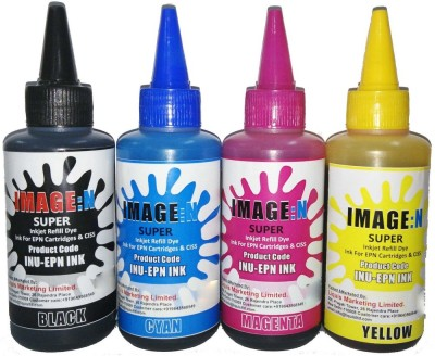Tip Top Colors Epson Premium Quality Inkjet Compatible Ink 100 ML X 4 Colours (Dye Ink Combo) Multicolor Ink