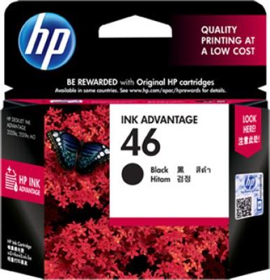HP 46 Black Black Ink
