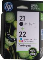 HP 21/22 Combo Pack Multicolor Ink Cartridge(Black, Magenta, Cyan, Yellow)