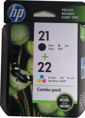 HP 21/22 Combo-pack Ink Cartridges(Black, Magenta, Cyan, Yellow)