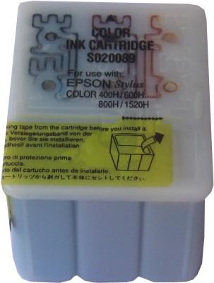 Max S020089 Tri-Color Ink Cartridge Compatible For Epson Printer Prefilled Tri Color Ink