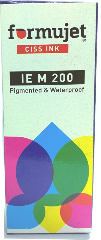 Formujet IE M 200 Refill Ink For Epson M100 / M200 / L100 / L110 / L200 / L210 / L220 / L300 / L350 / L355 / L365 / L550 Black Refill CISS Ink - 70 ML Bottle Black Ink Single Color Ink(Black)