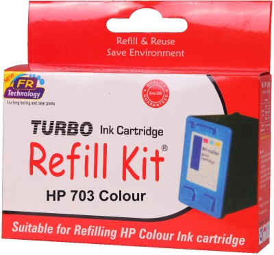Turbo ink refill kit for HP 703 color cartridge Tri Color Ink