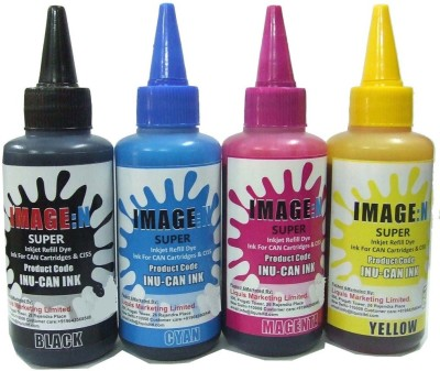 Tip Top Colors Canon Premium Quality Inkjet Compatible Ink 100 ML X 4 Colours (Dye Ink Combo) Multicolor Ink