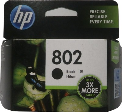 HP 802 Black Ink Cartridge(Black)