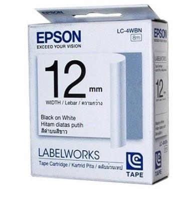 Epson 12mm x8m Black on White Toner
