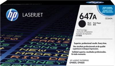 HP Color LaserJet CE260A Black Print Cartridge