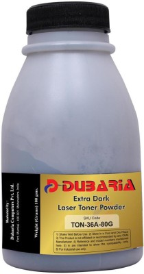 Dubaria Extra Dark Powder for HP 36A / CB436A Cartridge-80 Grams Black Toner
