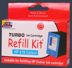 Turbo HP 678 Color Cyan, Yellow & Magenta, multicolour Ink