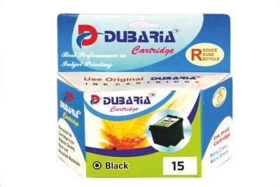 Dubaria 15 Black / C6615DA Cartridge - HP Compatible For Use in Officejet V40 , PSC 500 , PSC 750 All-in-One Printer Black Ink