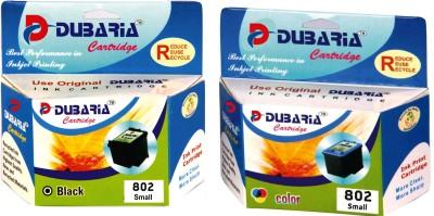 Dubaria HP 802 black and color combo Multicolor Ink