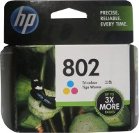 HP 802 Tricolor Ink Cartridge(Black, Magenta, Cyan, Yellow)