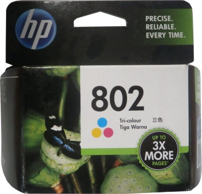 HP 802 Tricolor Ink Cartridge(Black, Magenta, Cyan, Yellow)