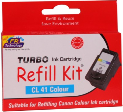 Turbo Ink Refill Kit for Canon CL 41 cartridge: Multicolor Ink