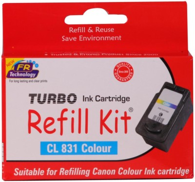 Turbo Ink Refill Kit For Canon Cl 831 Cartridge: Multicolor Ink
