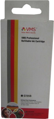 VMS C725B For Canon Refillable Ink Cartridge Prefilled Black Ink