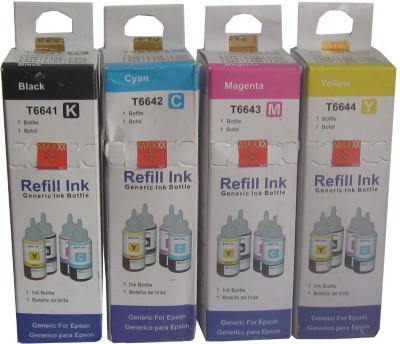 Max Epson T6641-T6644 High Quality 4*70ML Multicolor Ink