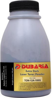 Dubaria Extra Dark Powder for HP 12A /Q2612A Cartridge - 100 grams Black Toner