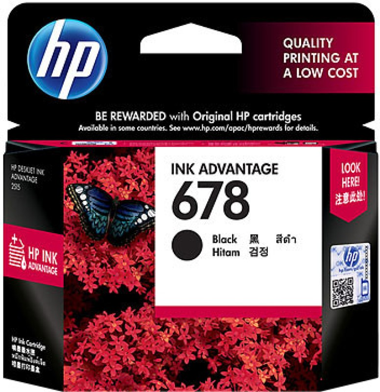 HP 678 Black Ink Cartridge(Black)