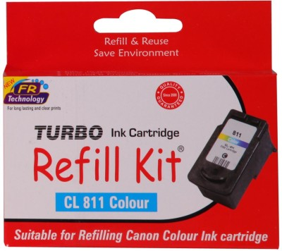 Turbo Ink Refill Kit For Canon Cl 811 Cartridge: Multicolor Ink