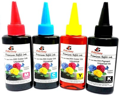 Funtabulas Premium Universal Ink for use in HP/ Canon/ Brother/ Samsung Inkjet Printers Multicolor Ink