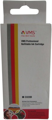 VMS C820B For Canon Refillable Ink Cartridge Prefilled BLACK Black Ink