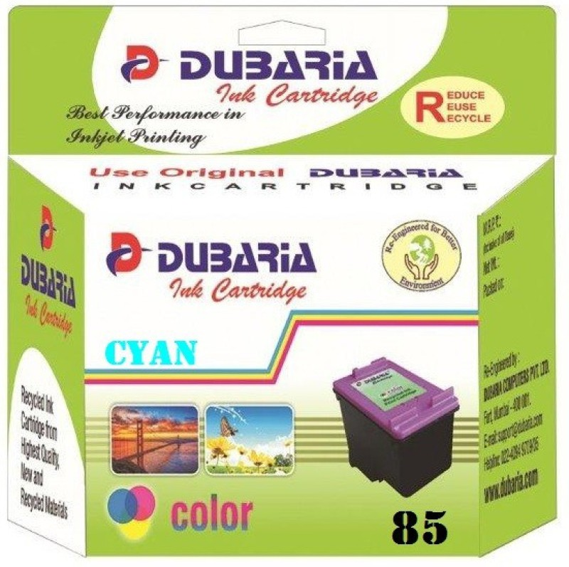 Dubaria 85N Cyan Ink Cartridge For Use In Epson Stylus Photo 1390, Epson Stylus Photo T60 Single Color Ink(Cyan)