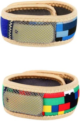 Safe-O-Kid Reusable Multicolor Fabric Mosquito Repellant Band - 2 Bands+4 Refills+2 Air Tight Pouch(Pack of 2)