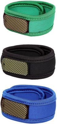Safe-O-Kid High Quality, Reusable Fabric Mosquito Repellant Band - 3 Bands+6 Refills+3 Air Tight Pouch(Pack of 3)