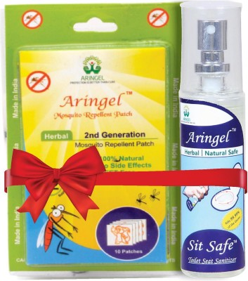 Aringel Herbal Mosquito Repellent Patch 2nd Generation 10 Pcs Patch & Sit safe Toilet Seat Sanitizer
