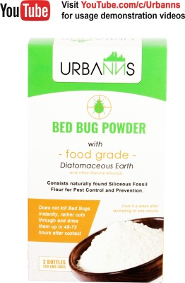Urbanns Bed Bug Powder With Food Grade Diatomaceous Earth(Pack of 2)