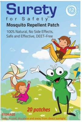 Surety For Safety Herbal Mosquito Repellent Patches 20