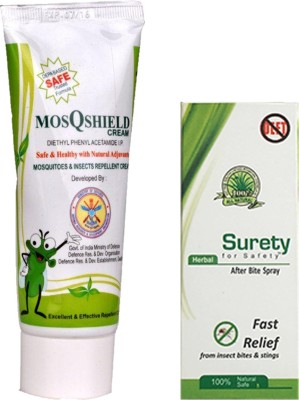 Surety for safety MosQshield Depa + Herbal After Bite Spray